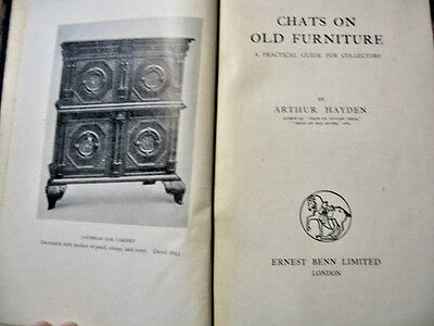 Antique Book Chats On Old Furniture Arthur Hayden Benn Guide Collectors Hardback