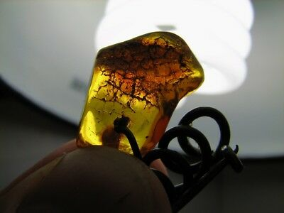 Baltic Amber ? Old Vintage Brooch ! Hand Made ! #206