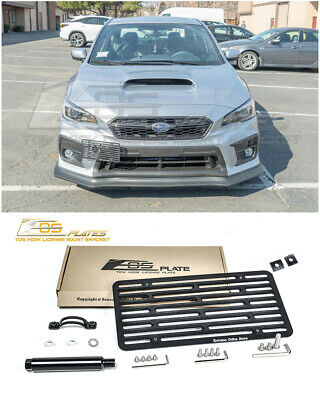 EOS Full Sized Front Tow Hook License Plate Mount For 17-Up Subaru WRX / STI