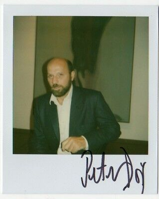PETER DOIG orig. handsigniert signiert signed Polaroid Foto Multiple Art Card