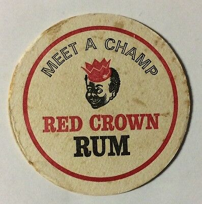 Meet A Champ Red Crown Rum Coaster,red Crown Rum Coaster,red Crown Rum Coaster