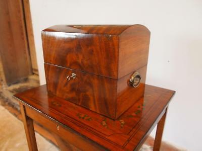 Box decanter chest George Flame Mahogany c1800