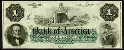State Of Rhode Island $1 Obsolete Currency Bank Of America
