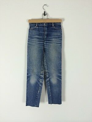 Vtg 50s French Darned Repaired Denim Jeans Chore Pants Trousers Patched Kids
