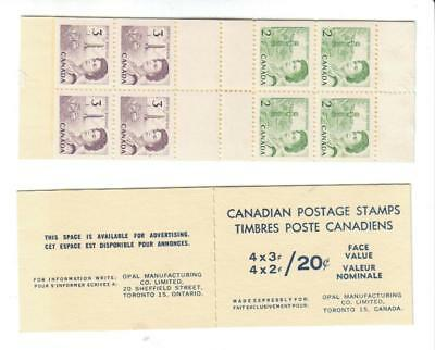 1970 Canada SC# BK 63b pane with vertical & horizontal perforated gutter M-NH