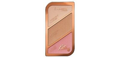 Rimmel Kate Moss Sculpting Palette (Highlight, Contour & Blush) 001 Golden Sands