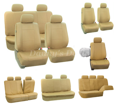 Cream Beige Leather Look Car Seat Covers Cover Set For Lancia Delta 1983 - 1995