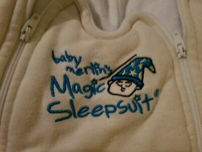 Baby Merlin's Magic Sleepsuit Cotton CREAM Small 3-6 Months (12-18 lbs)