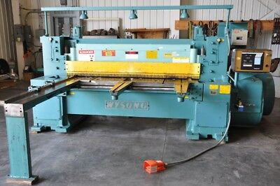 "1985 Wysong 638 3/8"" X 6' 15 HP 50 SPM Mechanical Power Squaring Shear"