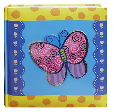 Pioneer Photo Albums 200 Pocket 3 D Butterfly Applique Cover Album 4 by 6 Inch