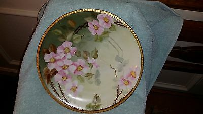 Decorative Limoge plate with gilt