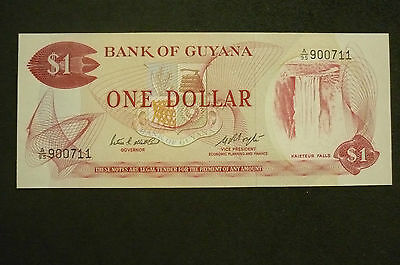 Guyana  One Dollar  Banknote -  1983 -   Crisp Uncirculated