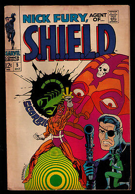 Nick Fury Agent of Shield Marvel Comics #5 October 1968 Steranko Art Cover