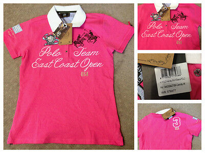 New HV Polo Halliday polo shirt in candy pink sz small