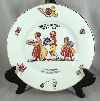 1929 Annual Pioneer Flour Mills 78th Anniversary Collectors Plate San Antonio TX