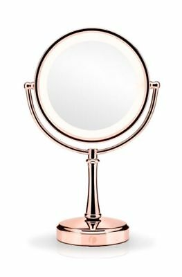 Reflections by BaByliss Boudoir Illuminated  360 Degree Twist Mirror Rose Gold