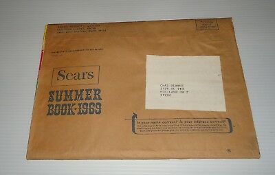 Sears Summer 1969 Vintage Catalog w/sleeve Bikes Clothing Flashback Styles !!