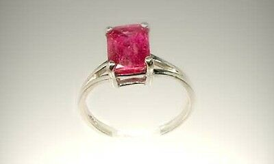 Red Sapphire Ring 2¾ct Vintage Handcut Ancient Etruscan Roman Prophet Oracle Gem