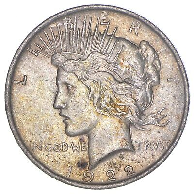 Over 90 Years Old! 1922 Peace Silver Dollar - 90% Silver *820