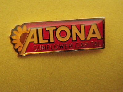 Altona Sunflower Capital Pin - Enameled