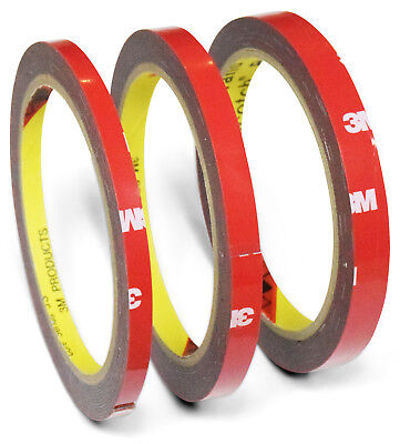 3M 4229P VHB Tape 3m x 6mm+8mm+10mm Adhesive Foam Double-sided Automotive