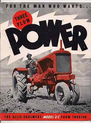We are selling  rare Allis Chalmers color Brochures Model U -C Power