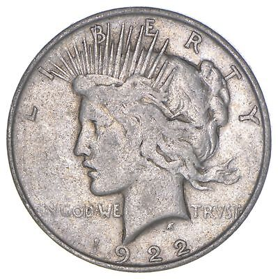 Over 90 Years Old! 1922 Peace Silver Dollar - 90% Silver *821