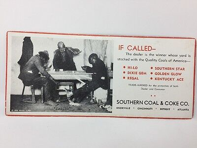 Rare Black Americana Southern Coal And Coke Company Advertisement