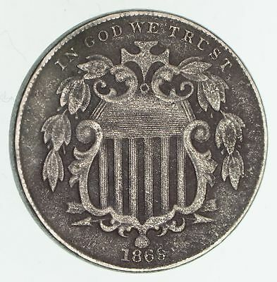 First US Nickel  - 1869 - Shield Nickel - US Type Coin - Over 100 Years Old *492