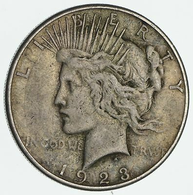 Early - 1923-S Peace Silver Dollar - 90% Silver - US Coin *502