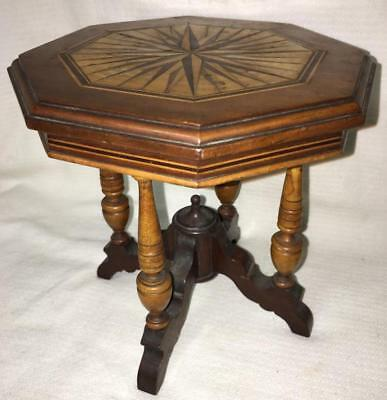 19th Century Tiger Maple & Walnut Table Lot 3003