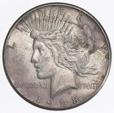 Early - 1923-S - Peace Silver Dollar - 90% US Coin *016