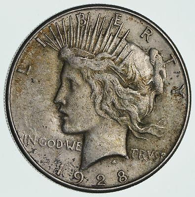 Early - 1928-S Peace Silver Dollar - 90% Silver - US Coin *489