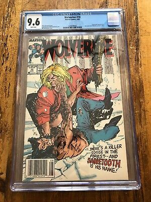 Wolverine #10 (1989, Marvel) CGC 9.6 KEY ISSUE Sabretooth  Combine Shipping