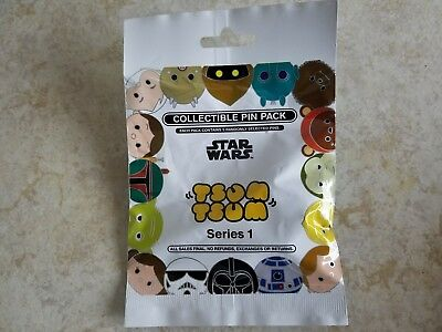 Disney Trading Pins Lot of 5 Collectible Pack Tsum Tsum Series 1 New Star Wars