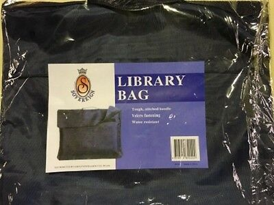 Sovereign Library Bag Navy - Velcro Fastening - Water Resistant - 89020