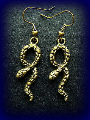 SNAKE Jewelry EARRINGS - Primitive Egyptian Art Deco Vintage Retro style-Reptile