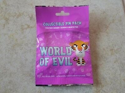 Pin Trading Disney Pins Lot of 5 Collectible Pin Pack World of Evil Cute Random