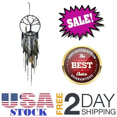 Tree of Life Dream Catcher Hanging Feather Ornament Large Dream Catcher Bedroom