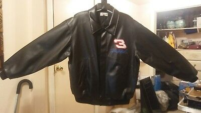Hard to Find Competitors View Dale Earnhardt SR #3 Faux Leather Jacket Coat XXL