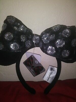 Disney Parks Minnie Mouse Sequin Interchangeable Swap Your Bow Ear Headband NEW