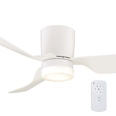 """NEW Mercator City DC 52"""" Low-Profile Ceiling Fan with LED Light & Remote - FC388"""