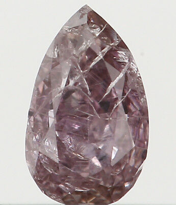 0.18 Ct Natural Loose Diamond Pear Pink Color I2 Clarity 4.20X2.60X2.00 MM L2042