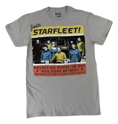 Mens Star Trek Join Starfleet Boldy Going Where No Man Has Gone Shirt S, M, L