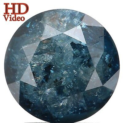 8.00 MM 2.22 Ct Natural Loose Diamond Round Shape Blue Color I3 Clarity L2796