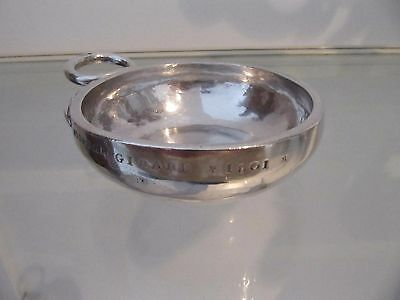 Early 19th c french solid silver wine tasting cup snake handle 119g 4,2oz 1801
