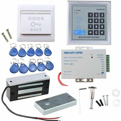 Door Access Control System, AGPtEK RFID Home Security Kit With 280kg 620LB Lock,