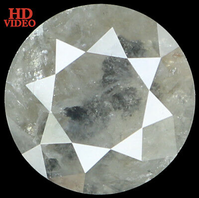 7.70MM 2.10 Ct Natural Loose Diamond Cut Round Shape Grey Color I3 Clarity L2808