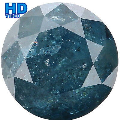8.50 MM 2.84 Ct Natural Loose Diamond Round Shape Blue Color I3 Clarity L2801