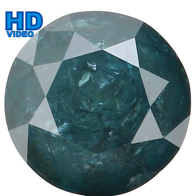 7.10 MM 1.79 Ct Natural Loose Diamond Round Shape Blue Color I3 Clarity L2804